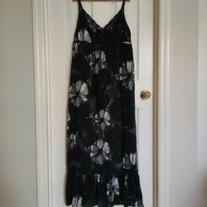 Lucky Brand Tie Dye/Floral Maxi Dress